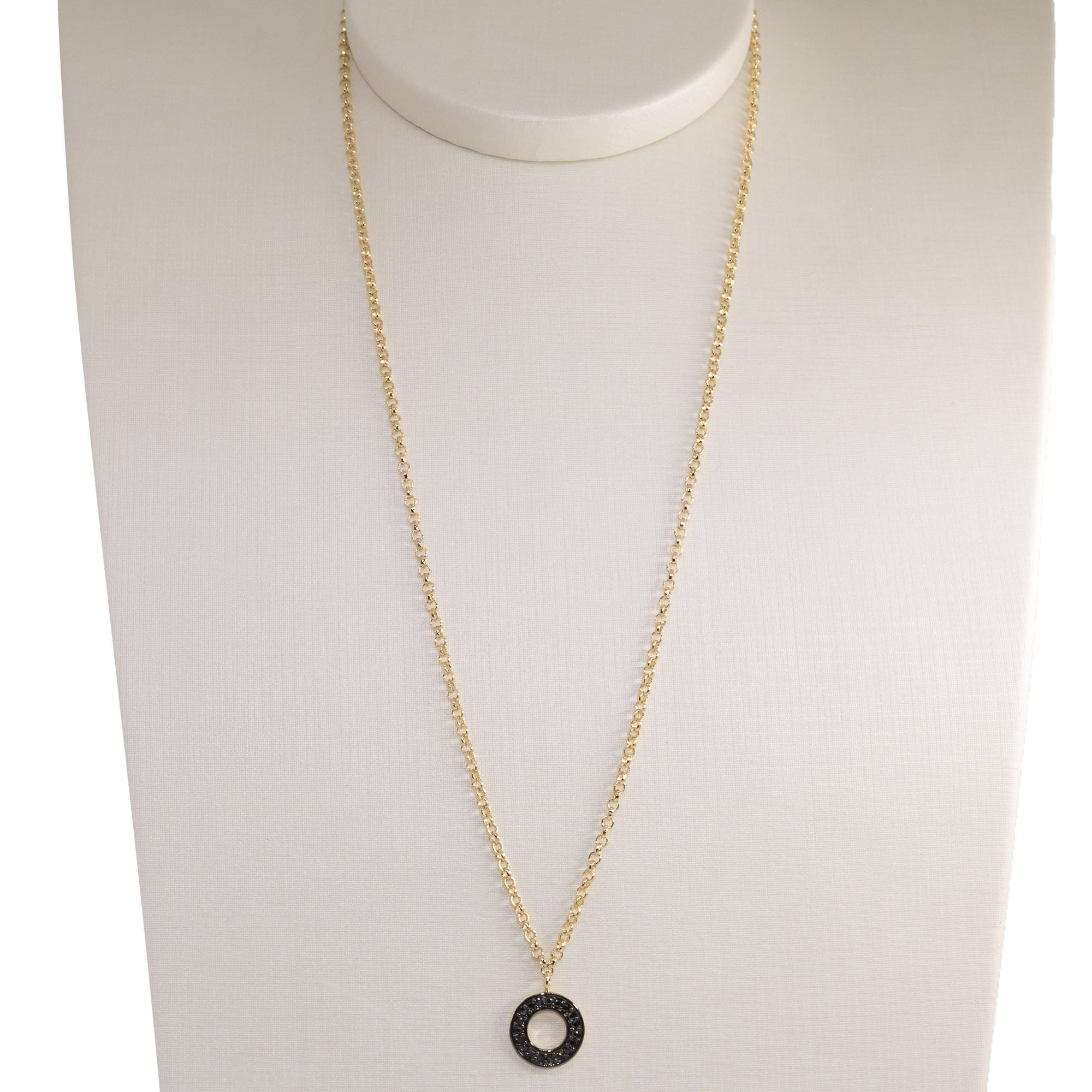 Gargantilha Semi joia  círculo Mimos folheada a ouro 18k ou rhodium