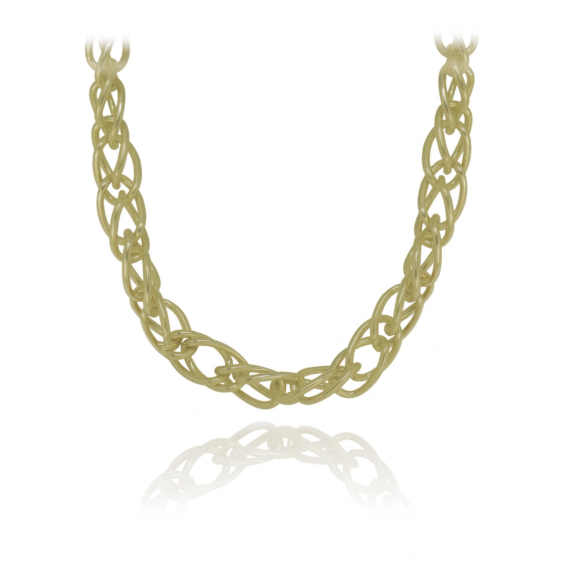Gargantilha folheada a ouro ou prata e verniz Diversos elos