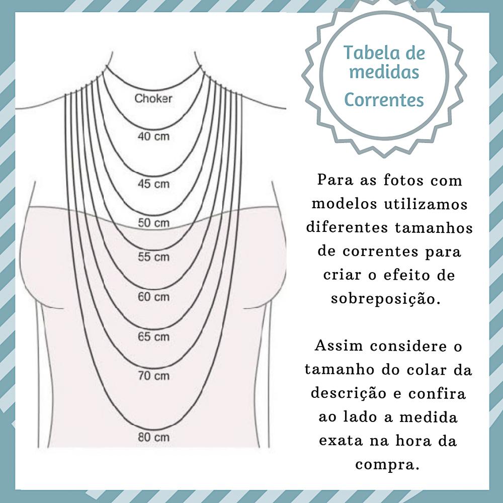 Gargantilha folheada semijoia Medalha de São Bento Diamant