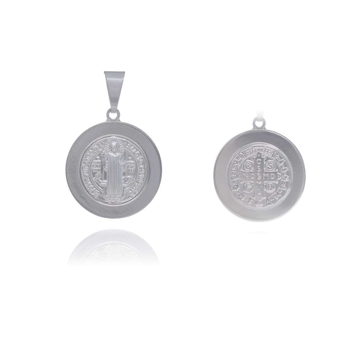 Medalha São Bento aço inox não escurece e hipoalergênico