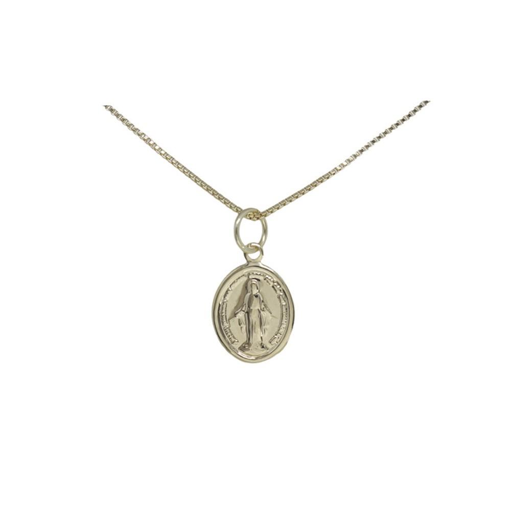 Medalha semijoia Nossa Senhora das Graças folheado a ouro P