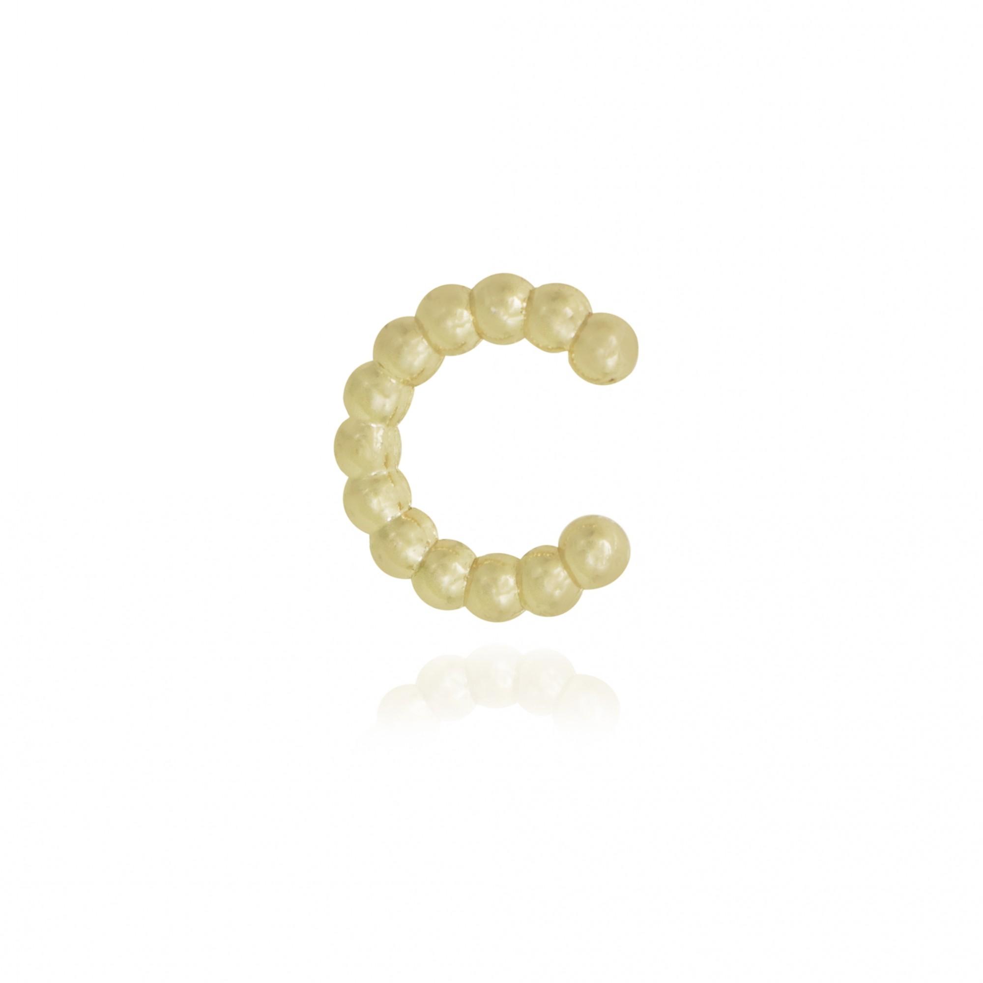 Piercing fake semijoia bolinhas folheado ouro prata