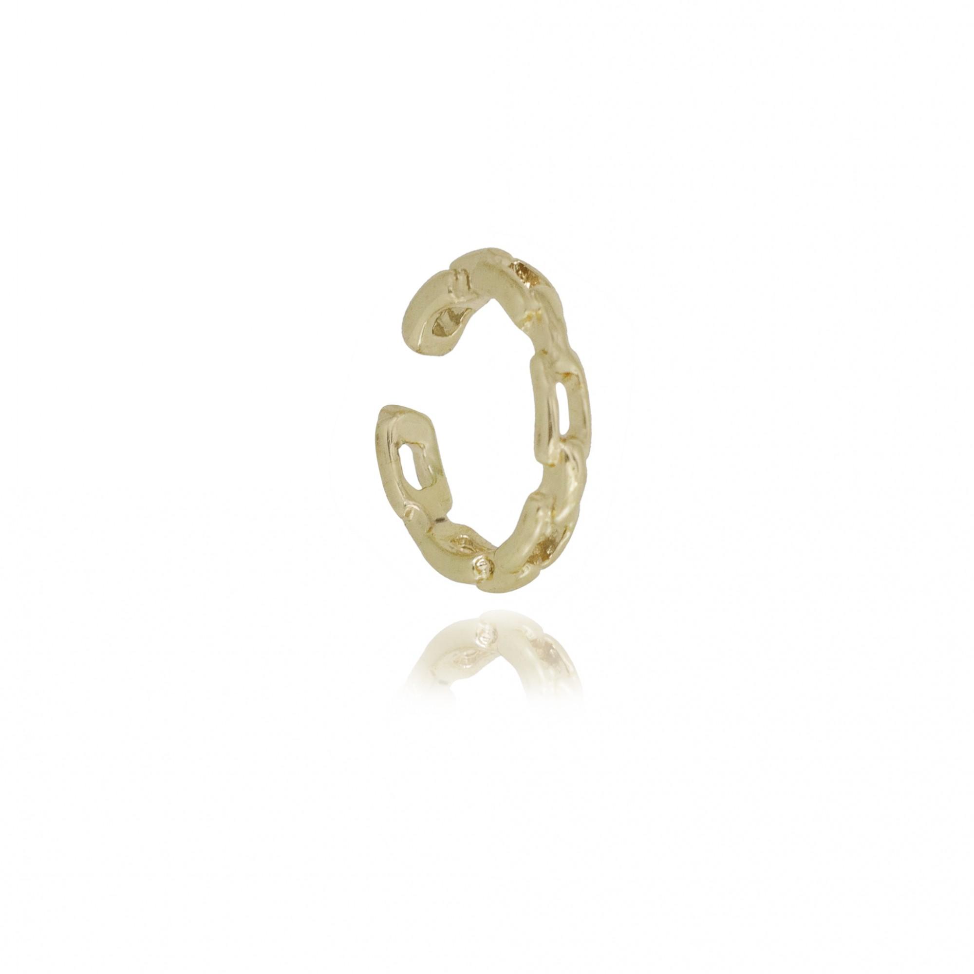 Piercing fake semijoia corrente folheado a ouro 18k ou ródio