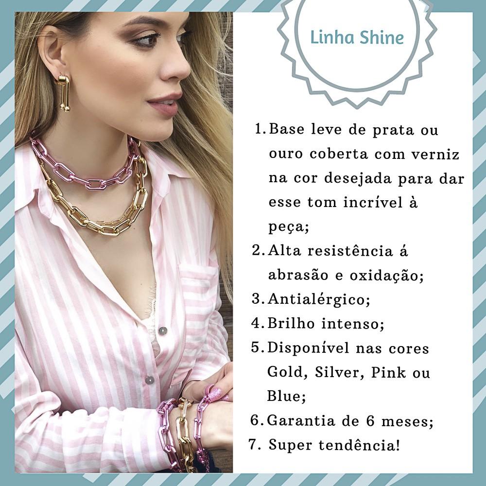 Piercing fake semijoia corrente folheado a ouro / prata ou pink