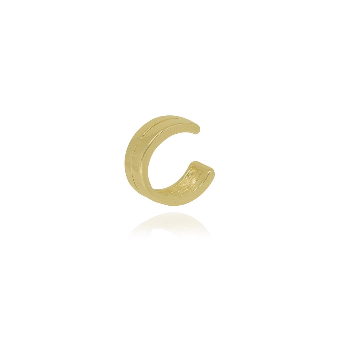Piercing fake semijoia feixe central folheado ouro ou ródio