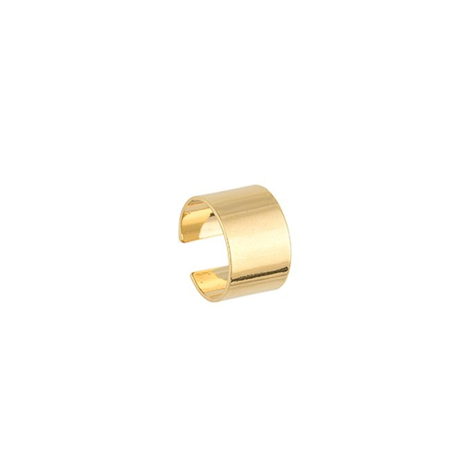 Piercing fake semijoia folheado ouro 18k ou ródio Chapa lisa