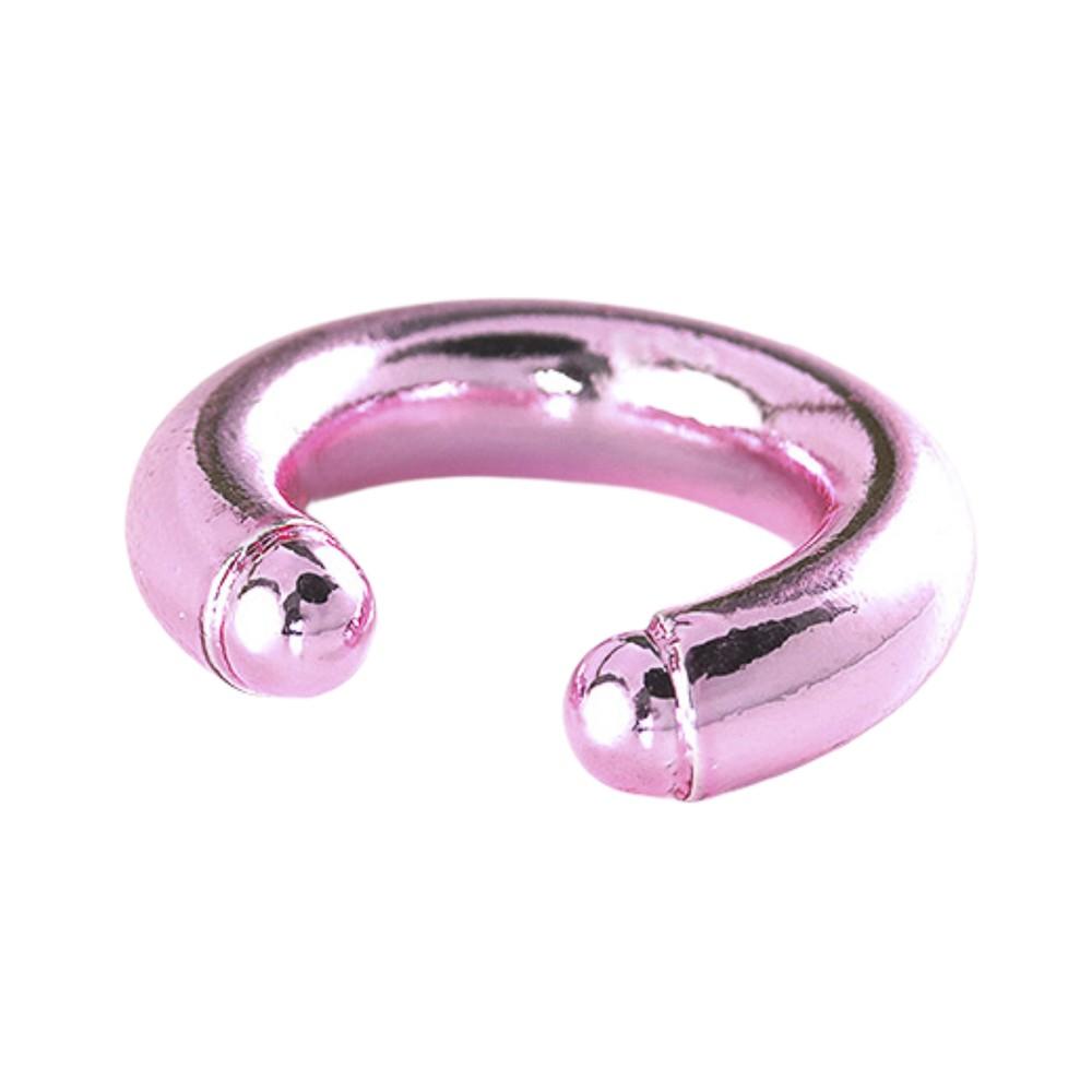 Piercing fake semijoia liso GG folheado ouro ou prata e nas cores pink ou blue (azul)