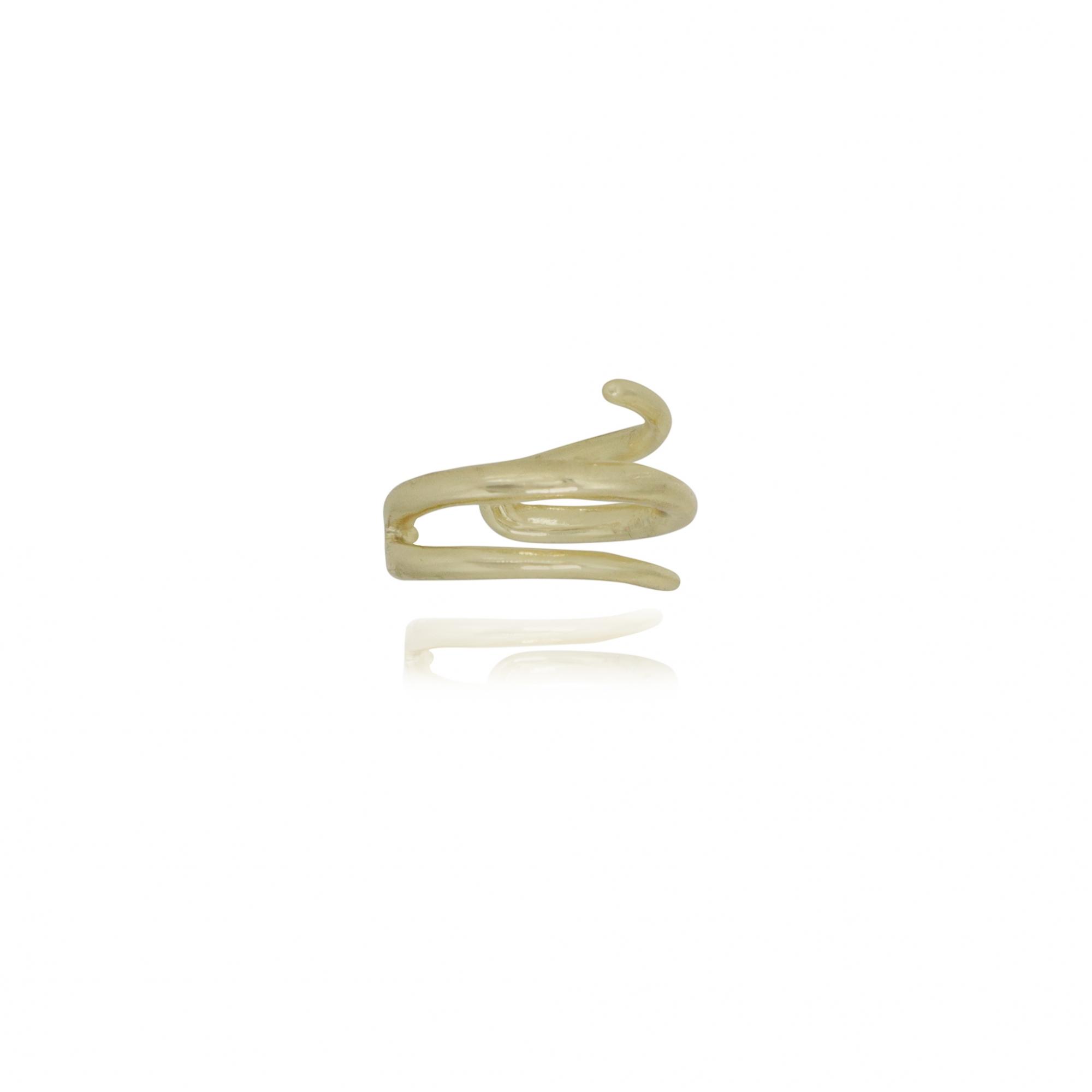 Piercing fake semijoia pontas folheado a ouro 18k ou ródio
