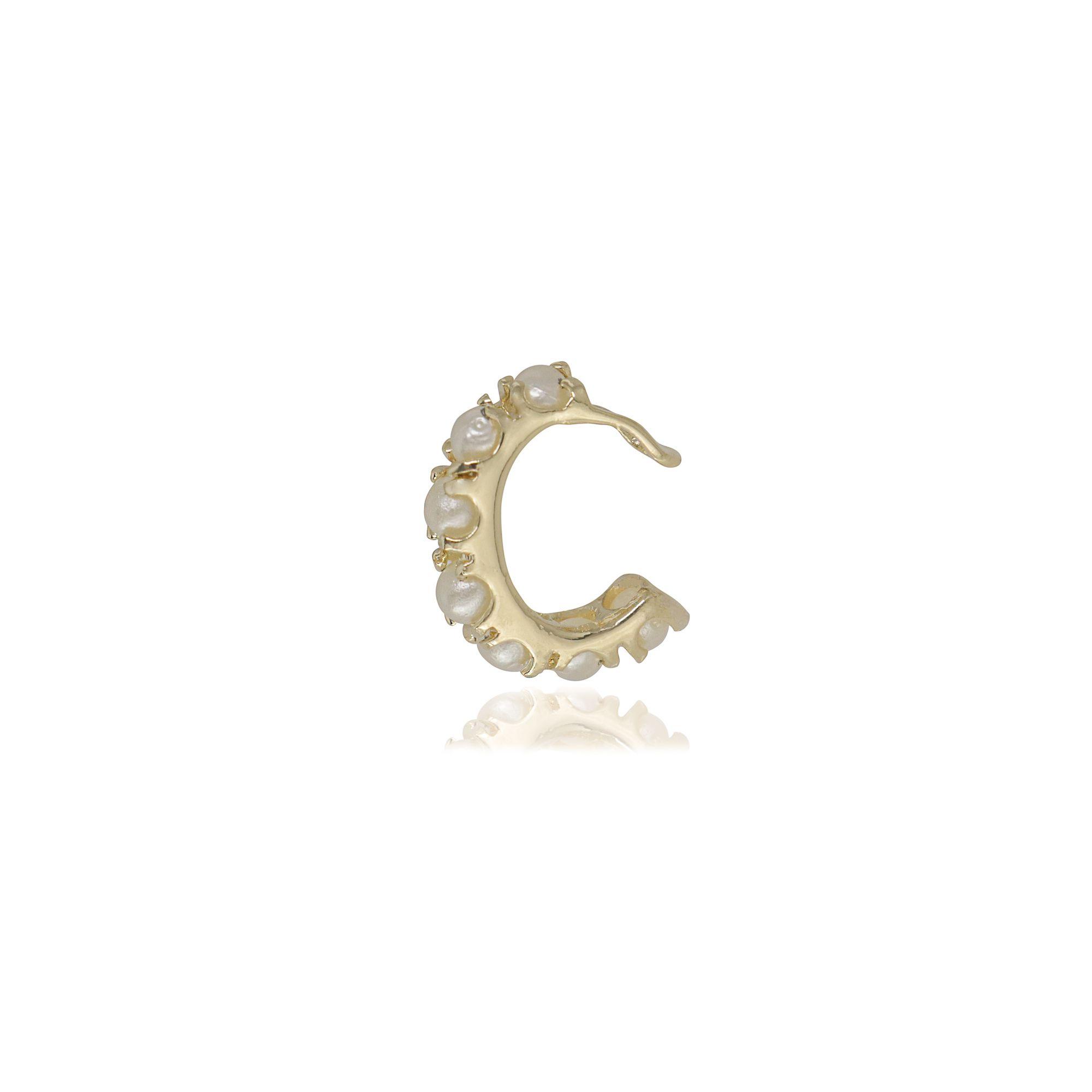 Piercing semijoia Perolinhas folheado a ouro 18k ou rhodium
