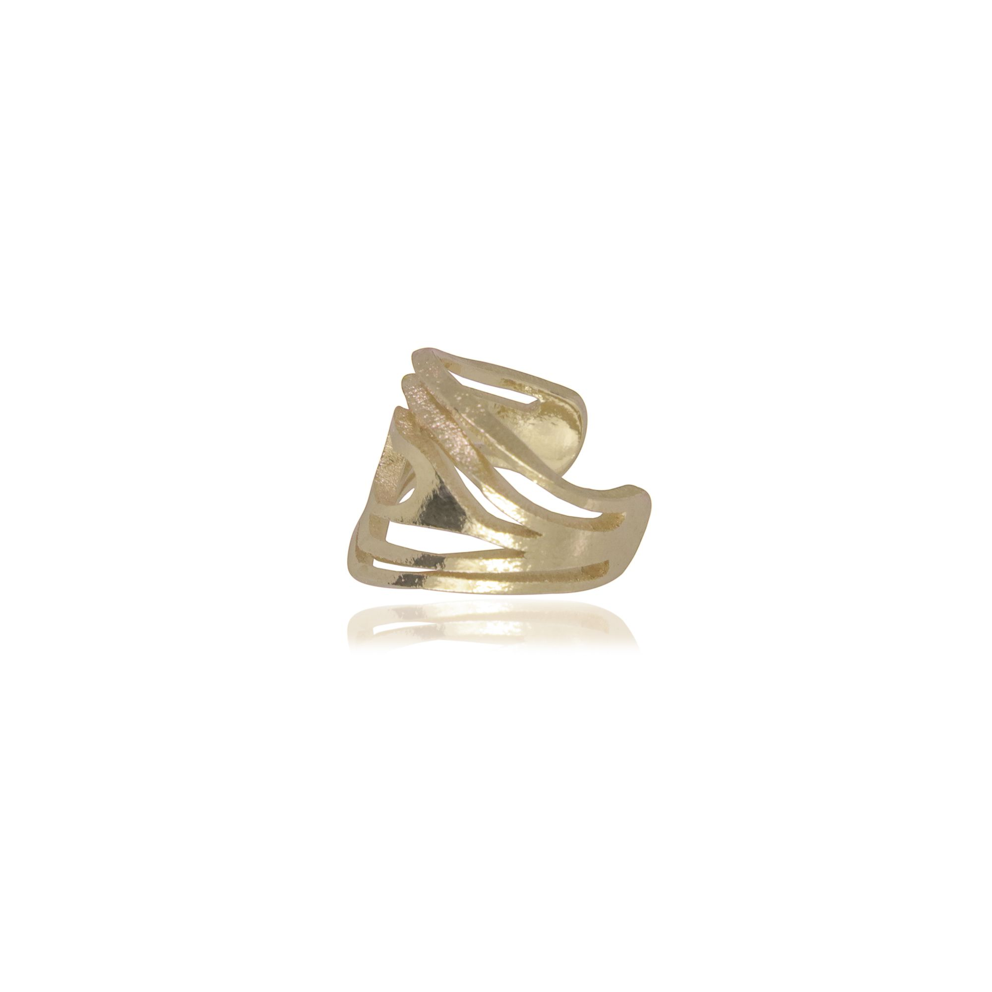 Piercing Semi joia coração vazado banhado a ouro 18k ou rhodium
