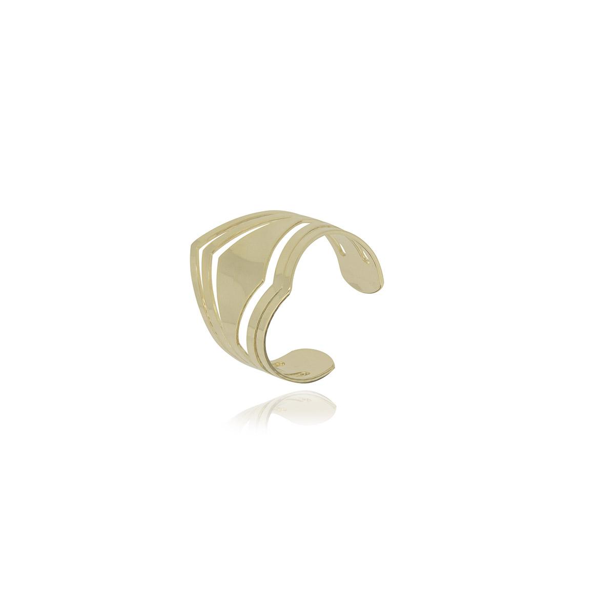 Piercing semijoia Ponta vazada folheado a ouro 18k ou ródio