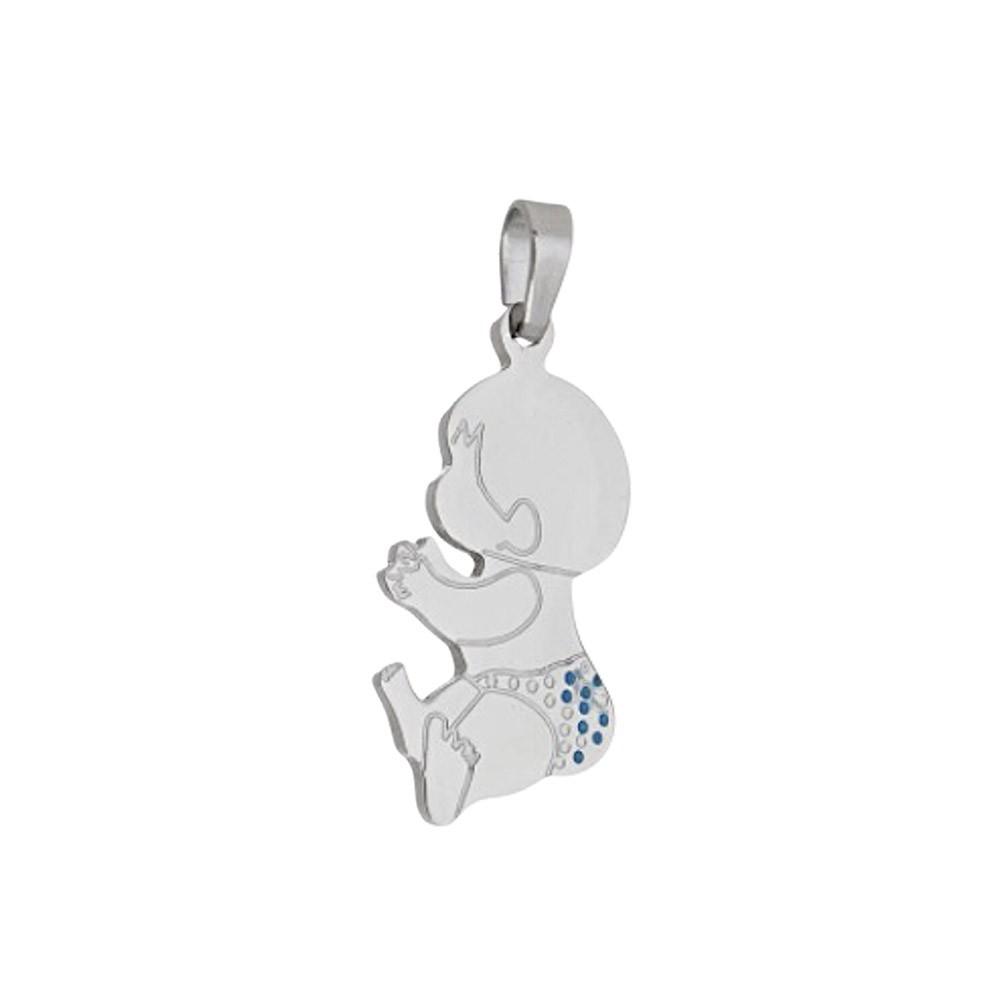 Pingente aço inox Bebê hipoalergênico não risca nem escurece