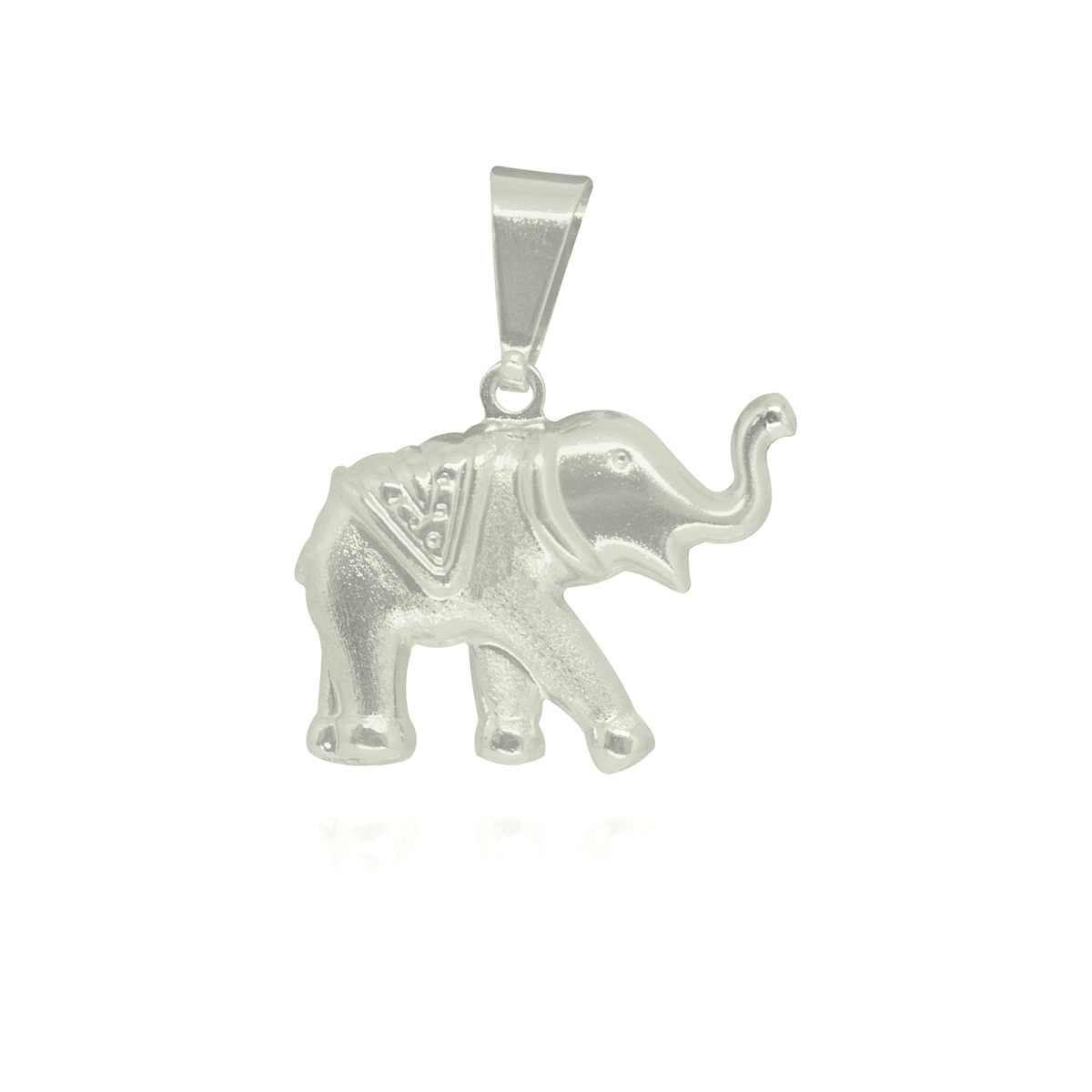 Pingente folheado a ouro prata e verniz Elefante andando