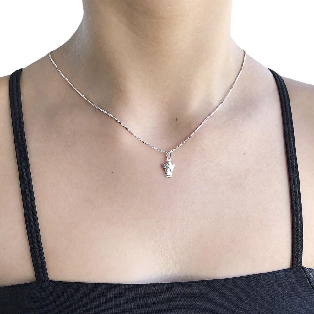 Pingente joia prata 925 maciça Anjinho mini hipoalergênica