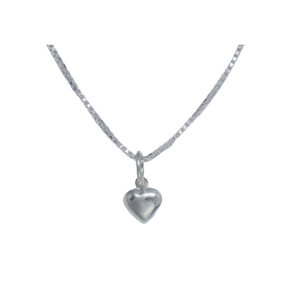 Pingente joia prata 925 maciça coração mini hipoalergênica