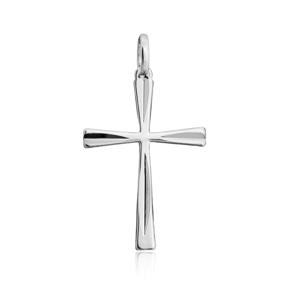 Pingente joia em prata 925 Cruz diamantada