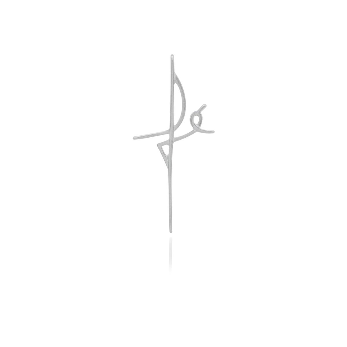 Pingente joia em prata 925 Fé formato cruz hipoalergênica