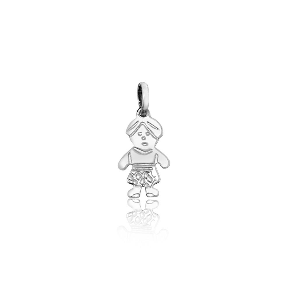 Pingente joia em prata 925 maciça Filho mini hipoalergênica