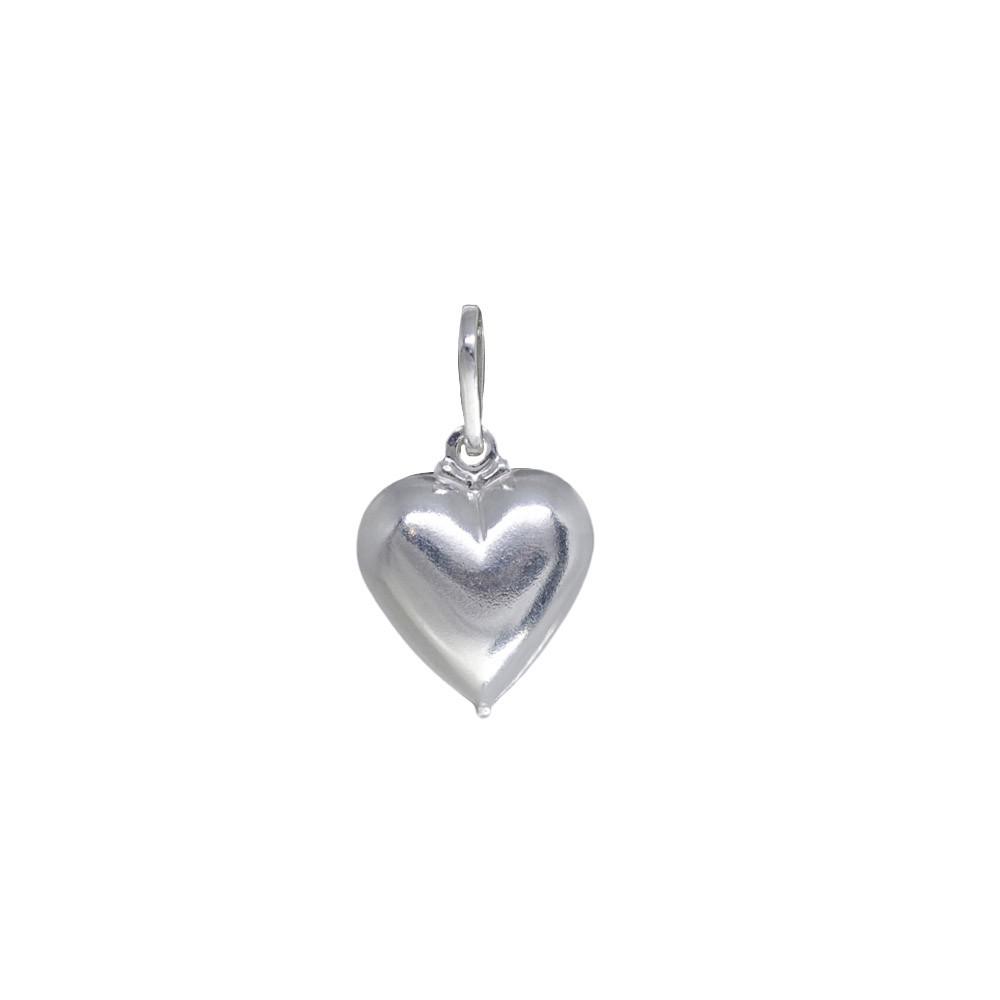 Pingente joia prata de lei 925 maciça Coração hipoalergênica
