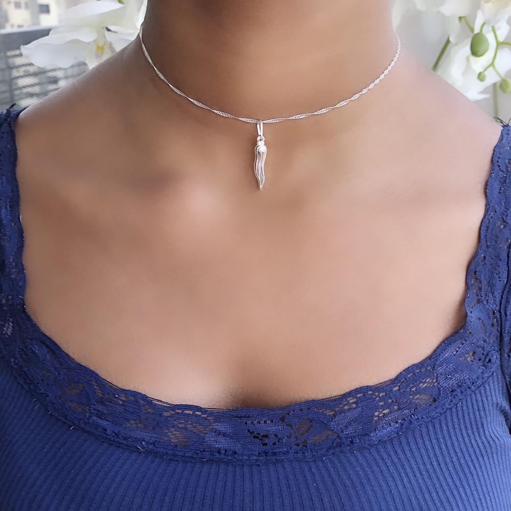 Pingente joia em prata 925 maciça Pimentinha hipoalergênica