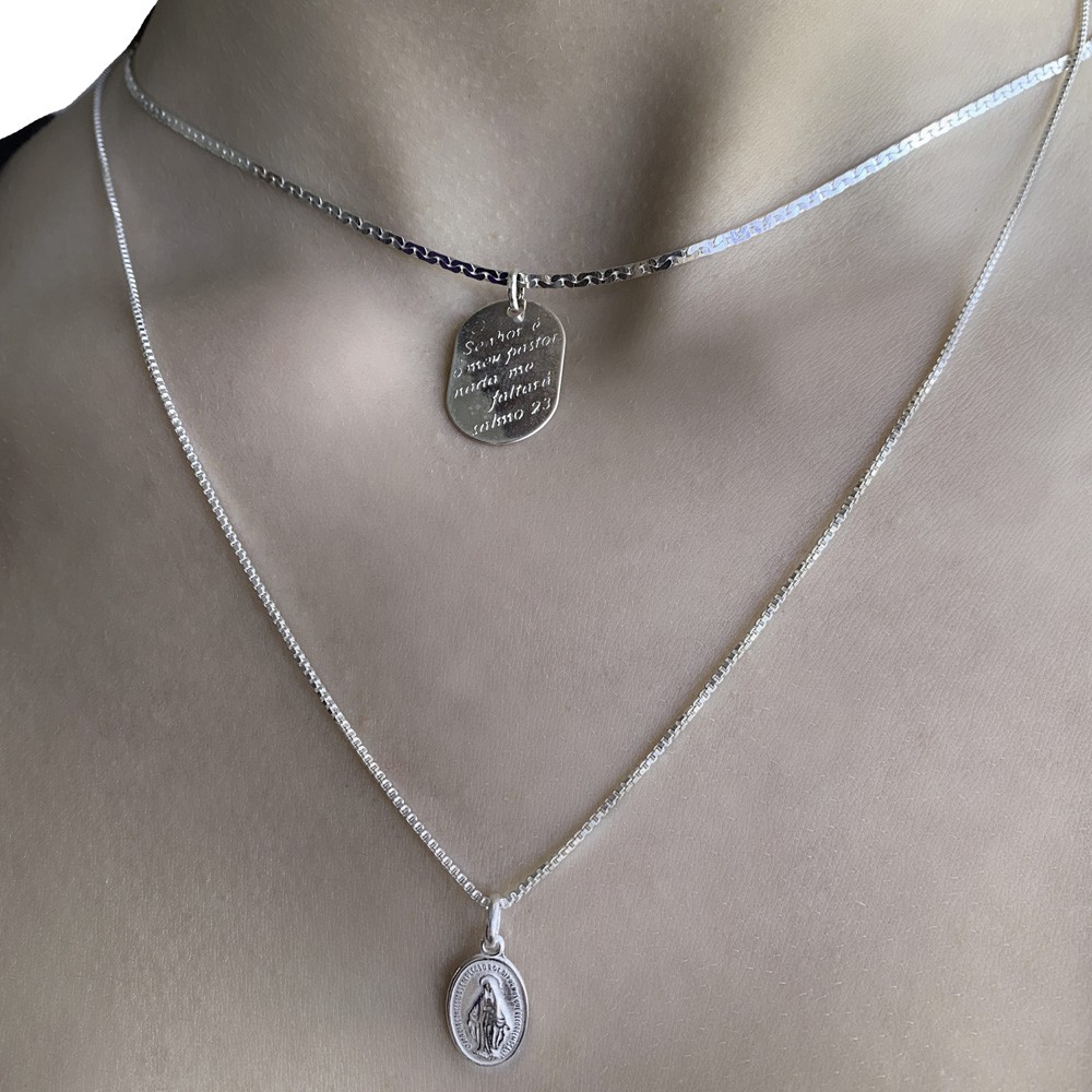 Pingente joia em prata 925 Nossa Senhora das Graças P
