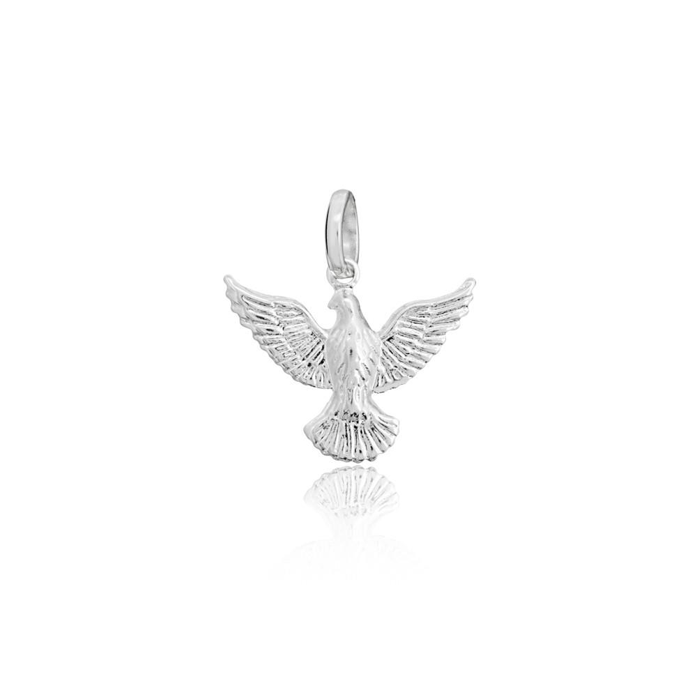 Pingente joia em prata 925 Pomba da Paz