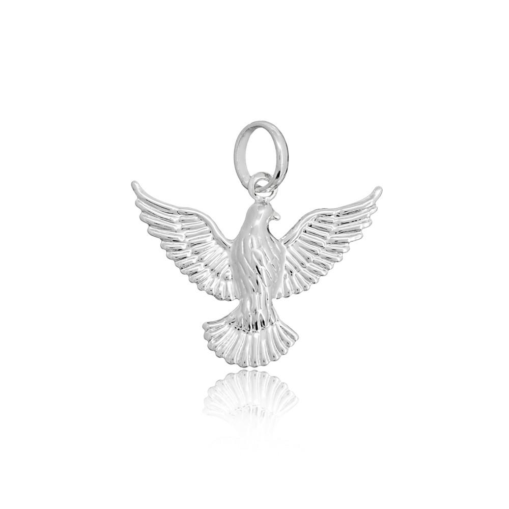 Pingente joia em prata 925 pura Pomba da Paz hipoalergênica