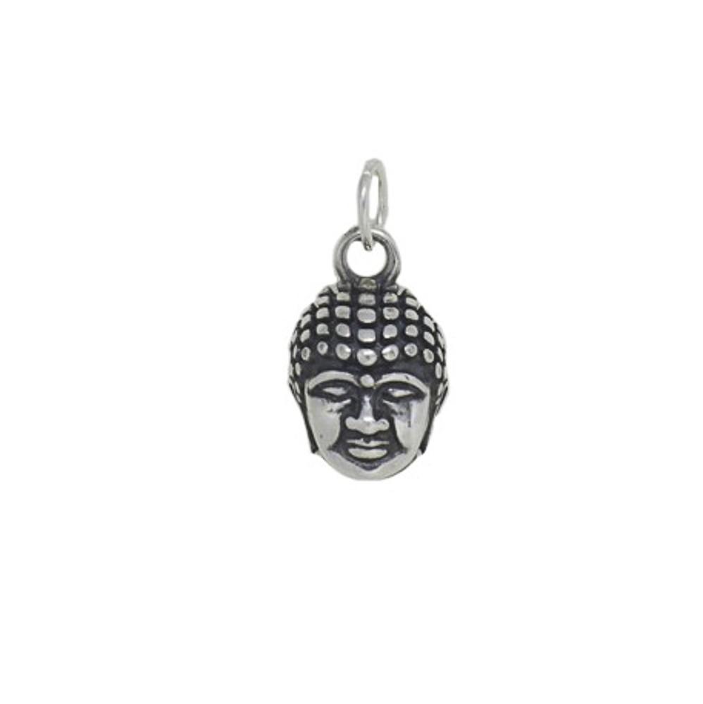 Pingente joia em prata 925 pura Buda prata velha