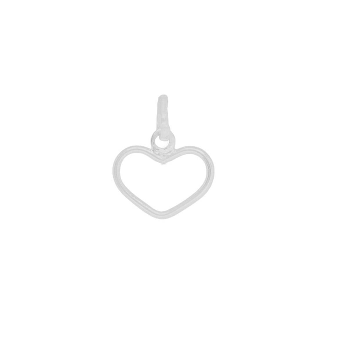 Pingente joia em prata 925 pura coração fio vazado hipoalergênica