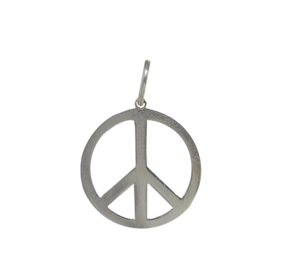 Pingente joia prata 925 pura Paz e Amor hipoalergênica