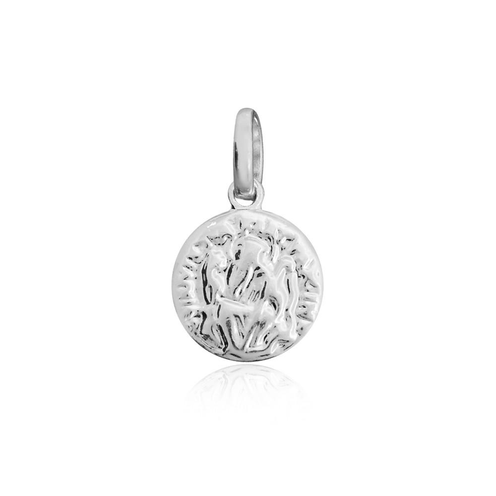 Pingente São Bento joia prata 925 maciça mini antialérgico
