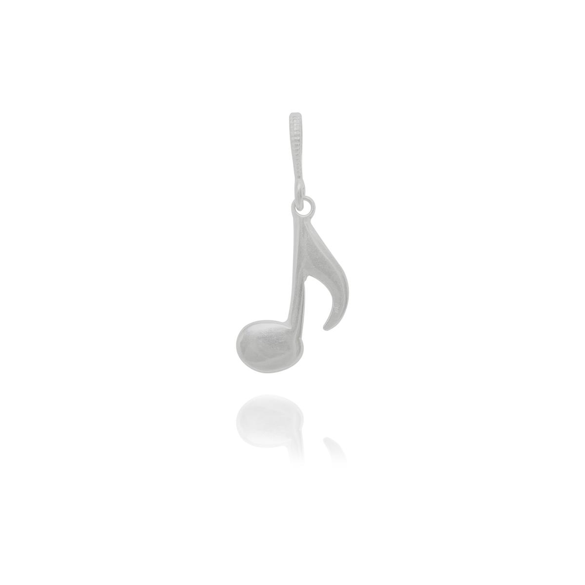 Pingente joia prata 925 pura Nota Musical hipoalergênica