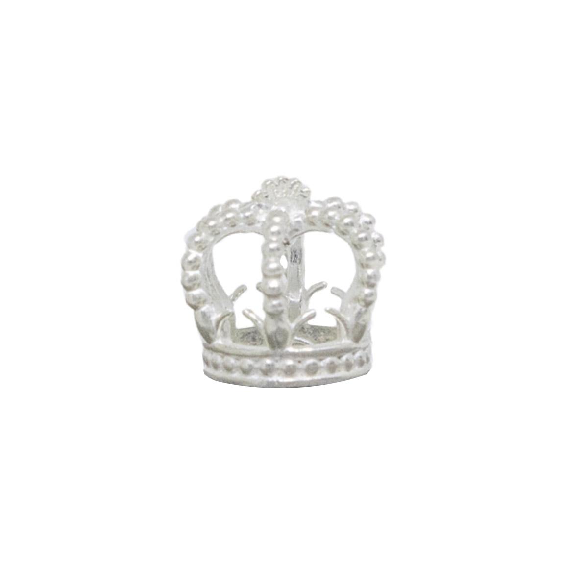 Pingente joia prata de lei 925 maciça coroa hipoalergênica