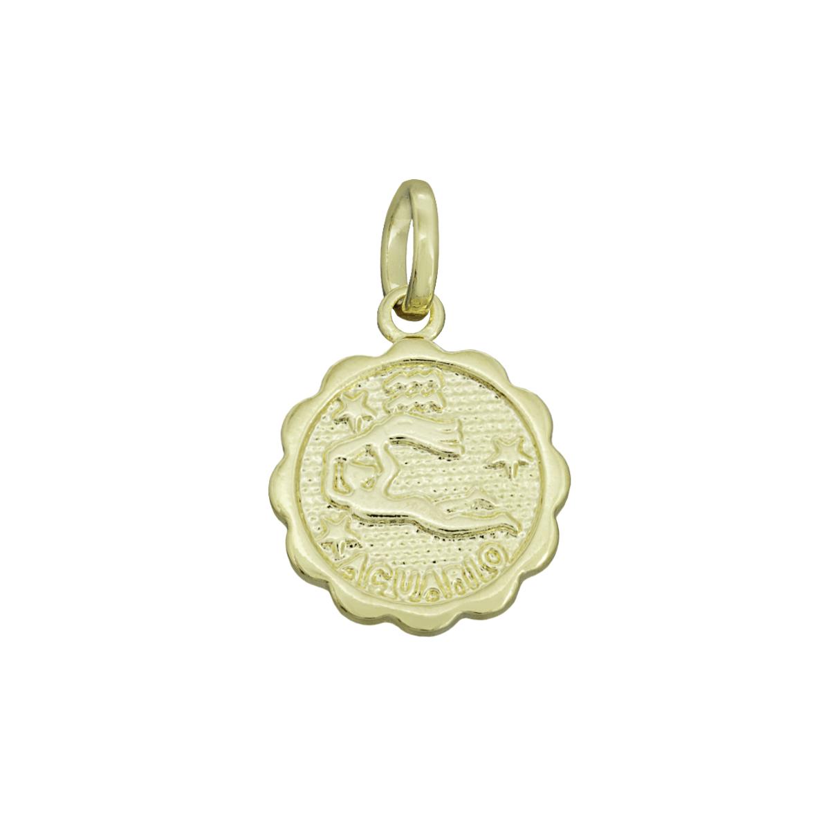Pingente semijoia Medalha Signos folheado a ouro ou ródio