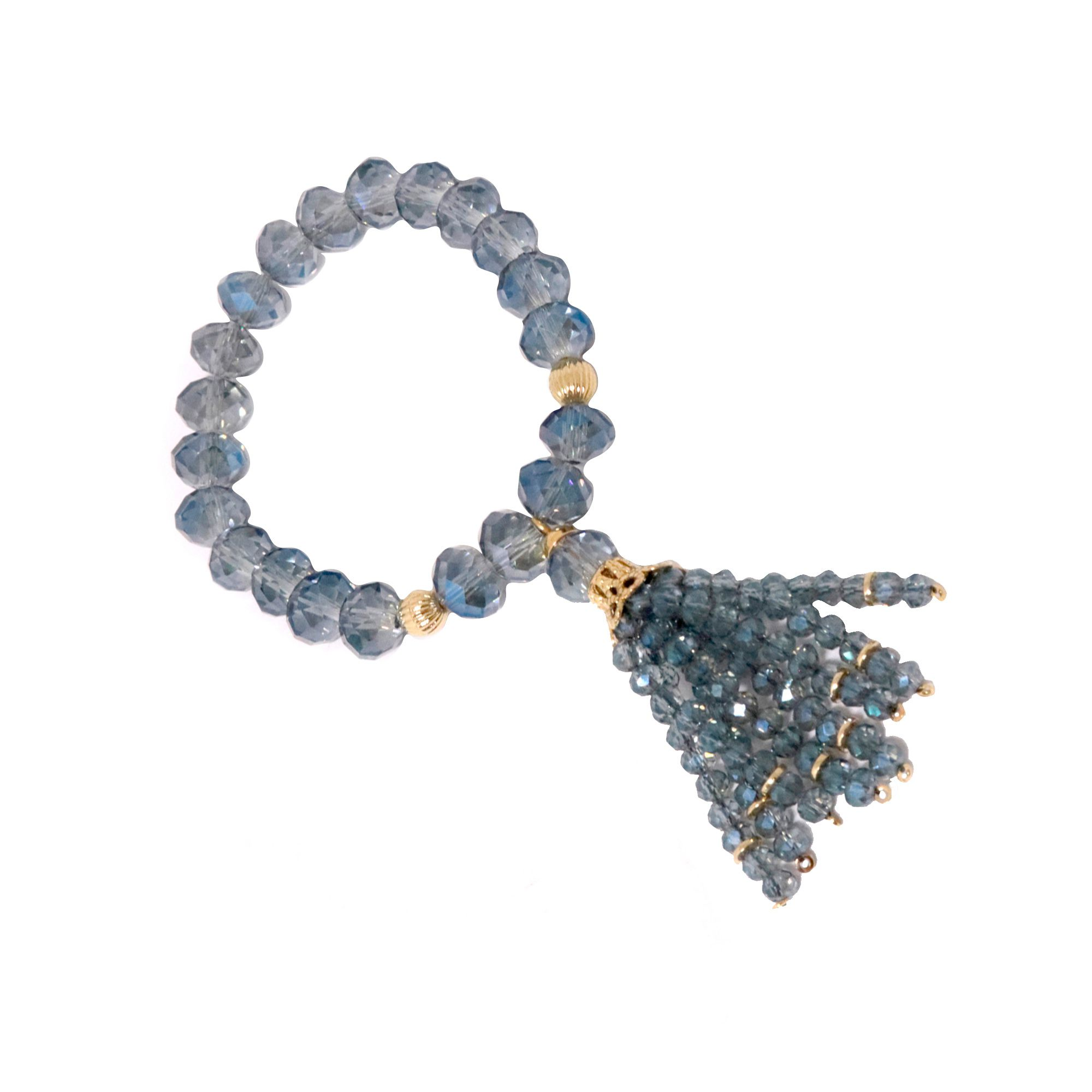 Pulseira Semi joia  Cristal com Cacho banhada a ouro 18k ou rhodium