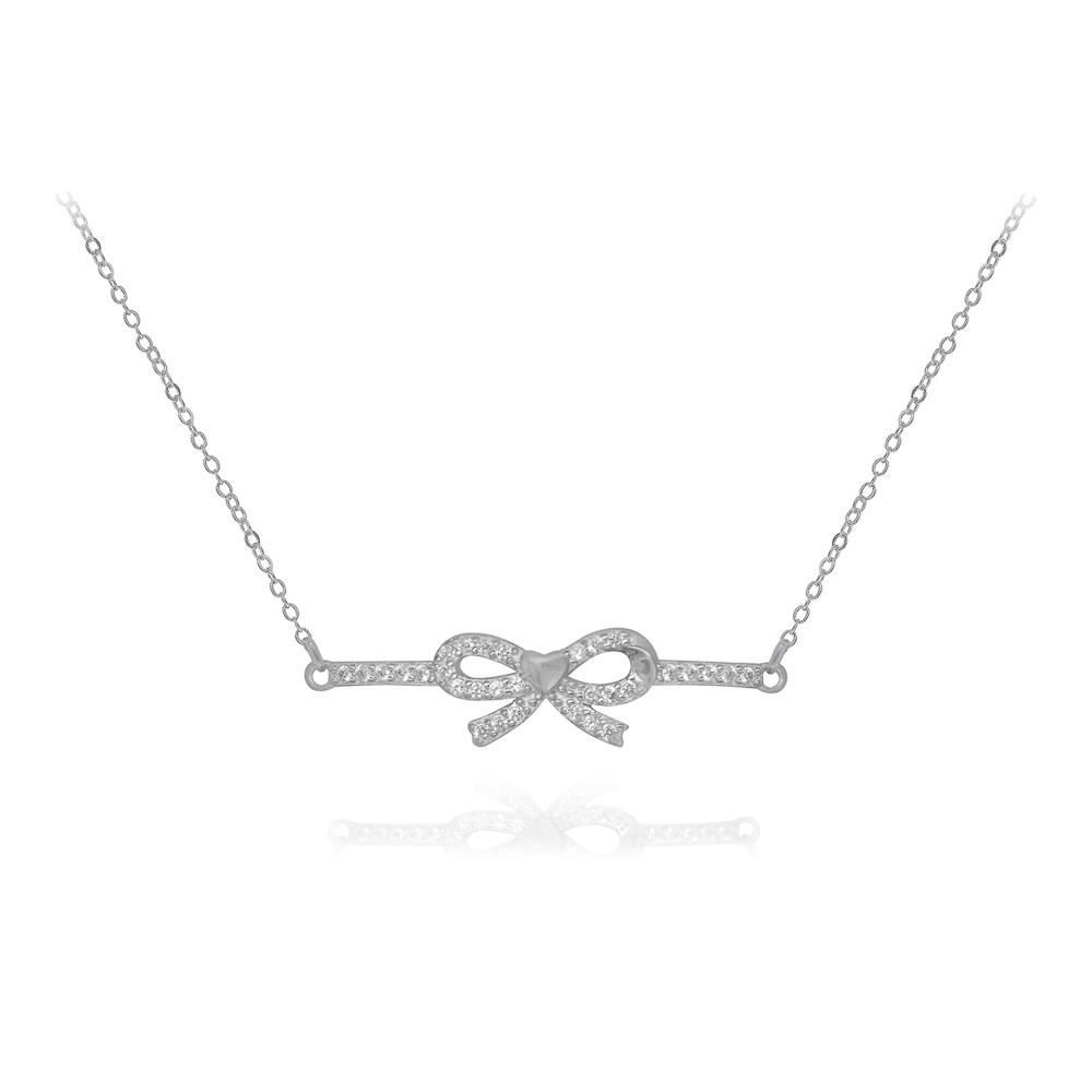 Pulseira joia em prata 925 pura cravejado regulável Lacinho