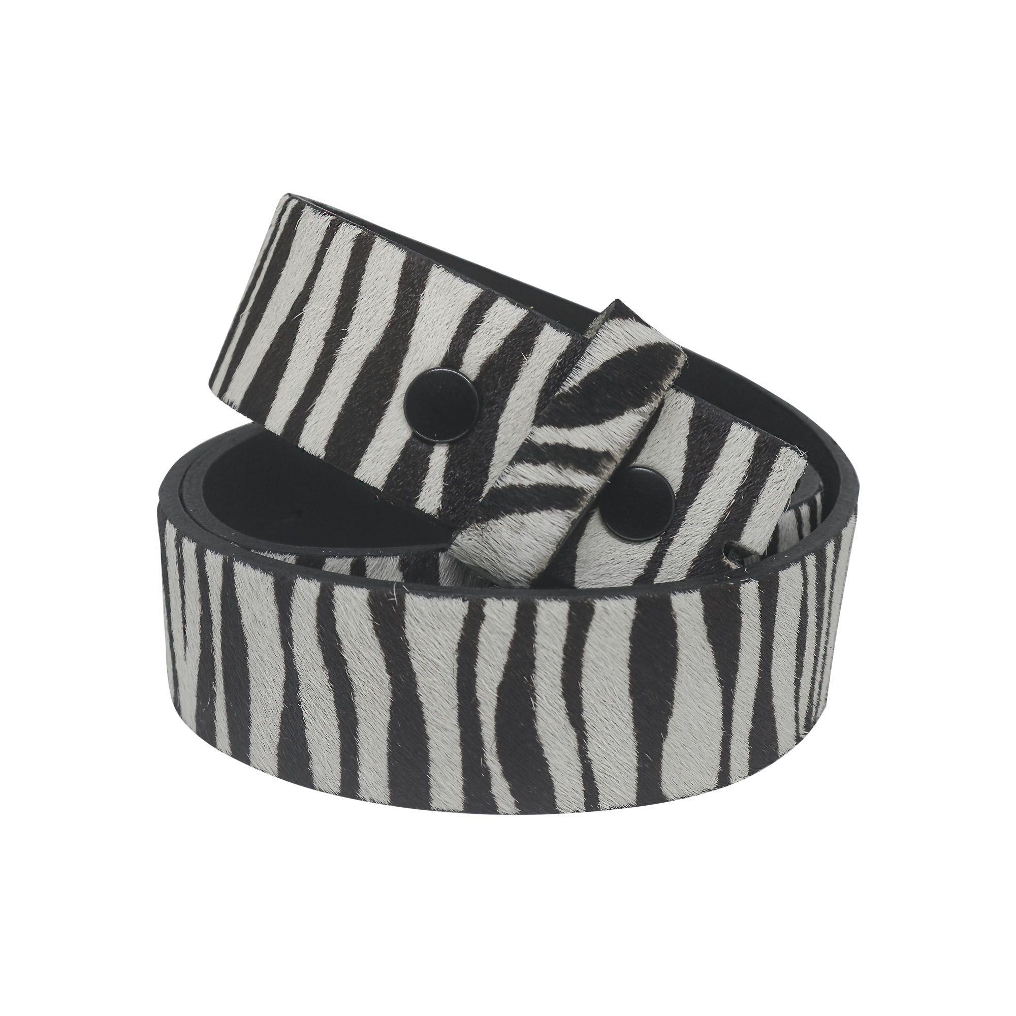 Tira de couro para encaixe de fivelas em camurça Zebra