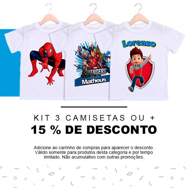 Camisetas Infantis Personalizadas - Empório Camiseteria