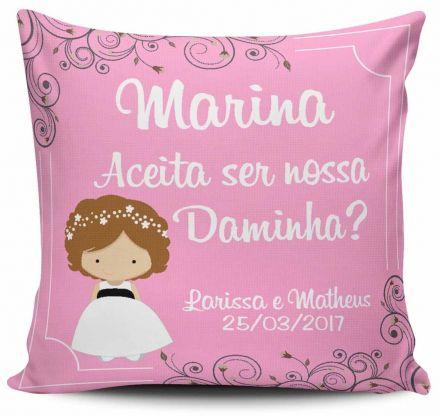 Almofada Casamento Personalizada Convite Daminha