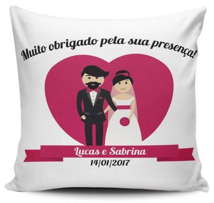 Almofada Casamento Personalizada Muito Obrigado Pela Sua Presença