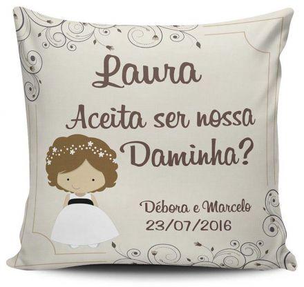 Almofada Convite Casamento Personalizada Daminha