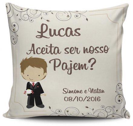 Almofada Convite Casamento Personalizada Pajem