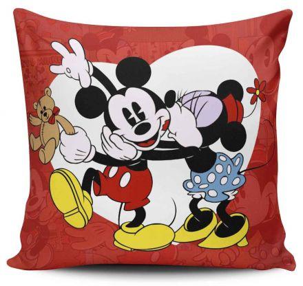 Almofada Coração Mickey e Minnie Vintage