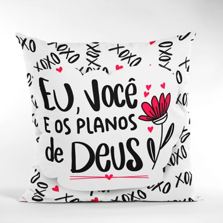 Almofada Eu e Você e os Planos de Deus - CA1320