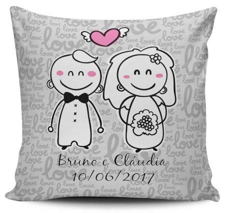 Almofada Lembrancinha de Casamento Personalizada Desenho