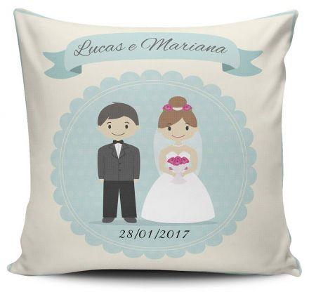 Almofada Lembrancinha de Casamento Personalizada Noivinhos