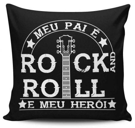 Almofada Meu Pai é Rock And Roll e Meu Herói