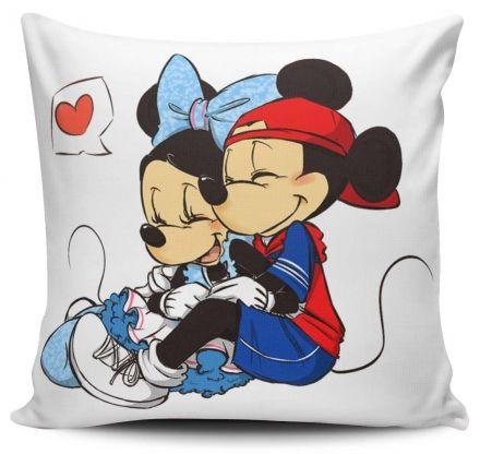Almofada Mickey e Minnie Apaixonados