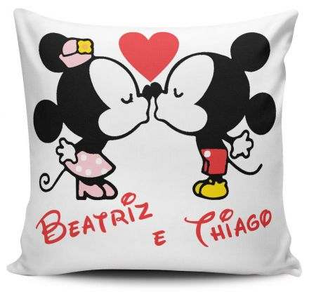 Almofada Mickey e Minnie Com Nome