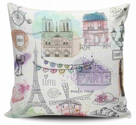Almofada Paris Desenhos
